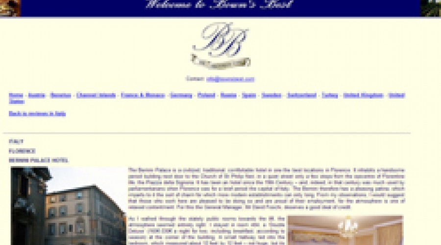 Il Bernini Palace Hotel sul sito Bown's Best